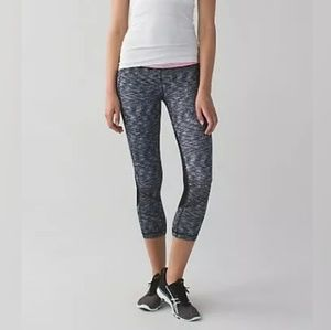 Lululemon Pace Rival Crop Dramatic Static Size 10